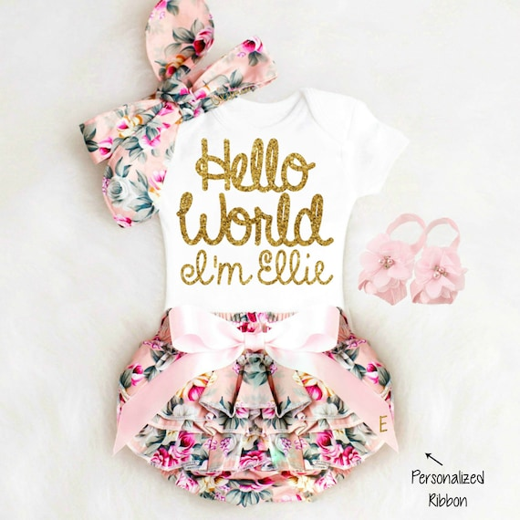 Baby Girl Coming Home Outfit Newborn Girl Take Home Outfit   Etsy