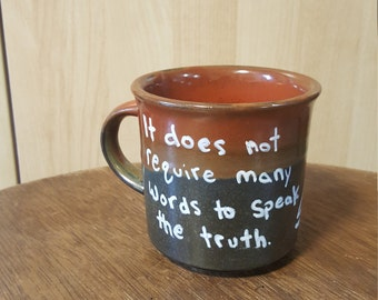 Small Mug with Quote