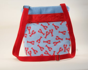 Lightblue Lobster Crossbody Bag