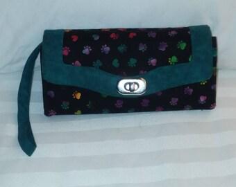 Necessary Clutch Wallet Tie Dye Paw Prints