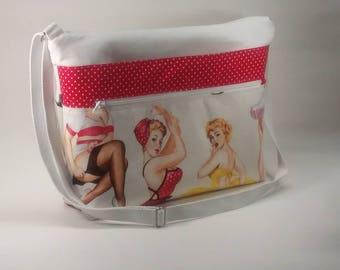 Pin Up Girl Crossbody Laptop Bag