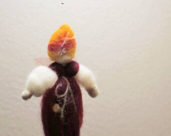 autumn fairy suspended natural felted waldorf inspired