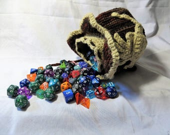 Crocheted Face Hugger Alien Egg Dice Bag