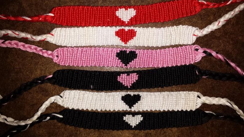 c3498a35c7270 Pair of Hearts Friendship Bracelets