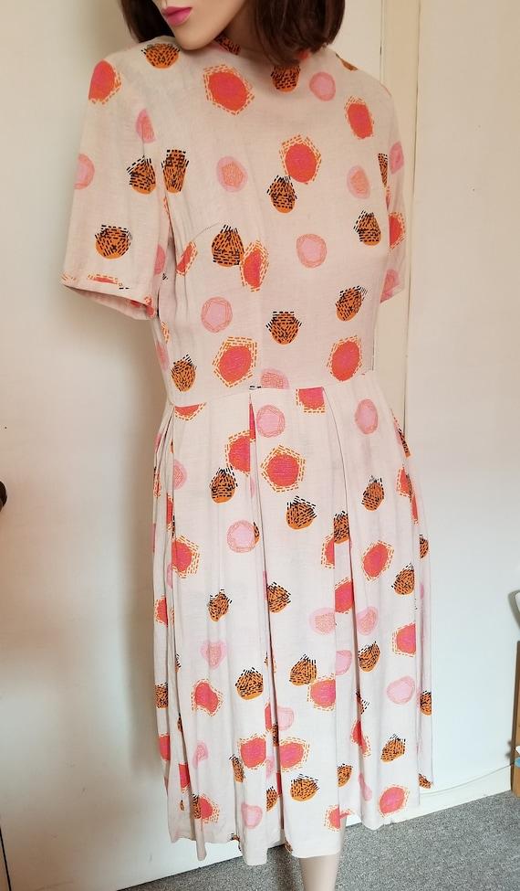 Vintage 1950s day dress /50s dress/summer dress/50