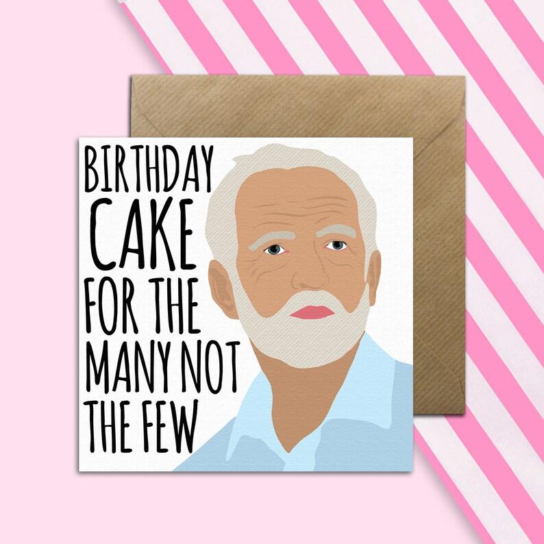 Jeremy Corbyn Birthday Card Political