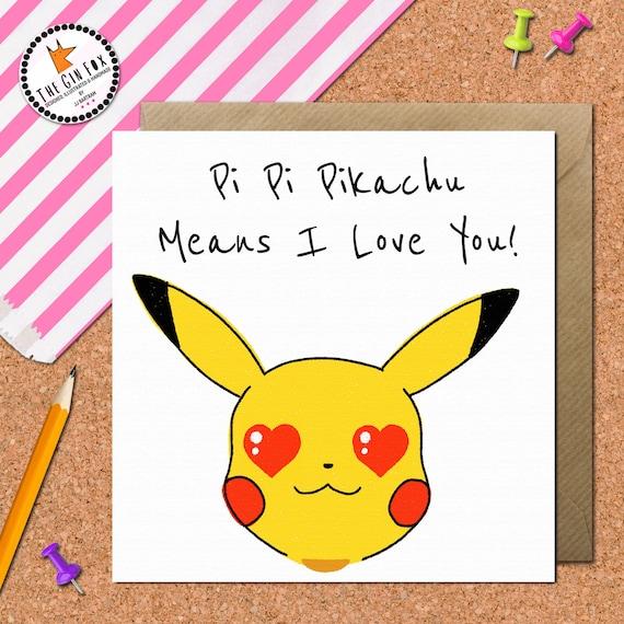 Birthday Cards Pokemon: Funny Pokemon Card Pikachu Birthday Card Pikachu