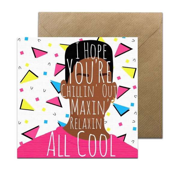 Funny Fresh Prince Card Fresh Prince Of Bel Air Birthday Etsy