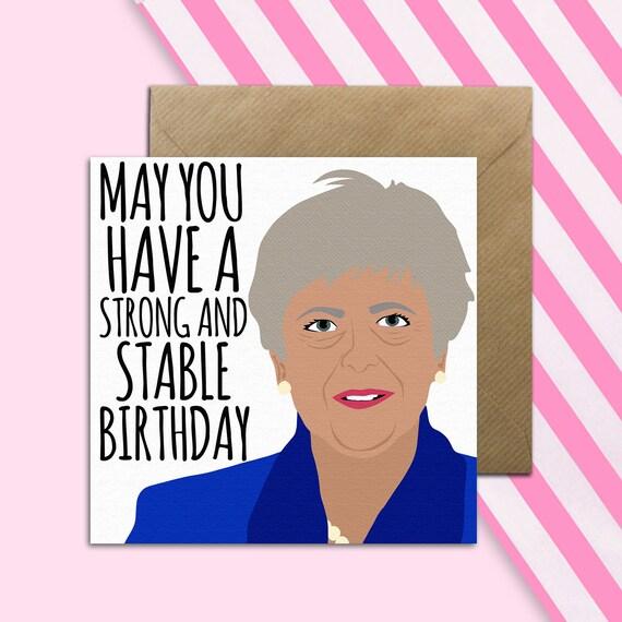 Teresa May Birthday Card MayCard Political