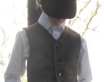 IN STOCK Edwardian-Style Knicker Suit. Boys Brown Wool Suit. Waistcoat and Knickerbockers. Page Boy Outfit. World Book Day.