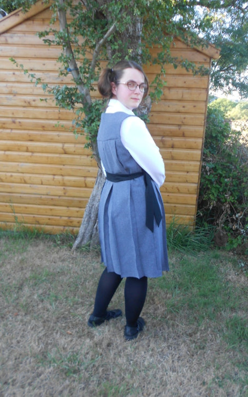 picture regarding Moaning Myrtle Printable titled Moaning Myrtle gymslip. Gray linen pleated Gymslip. Harry Potter Cosplay. Customized Get Tunic. Schoolgirls Tunic.