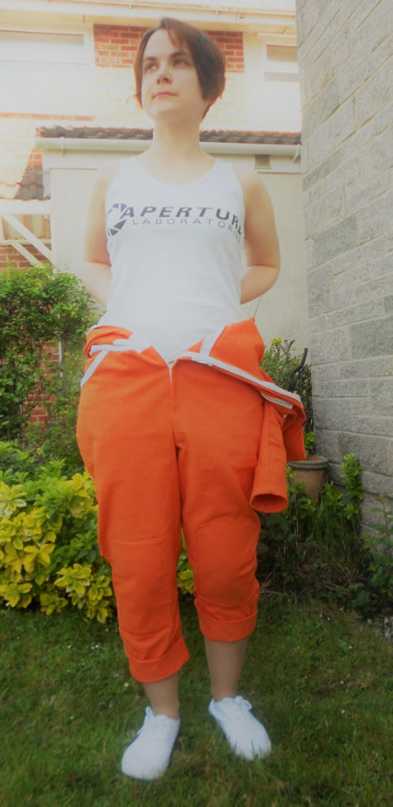 Chell Jumpsuit Orange Boilersuit Chell Portal Cosplay