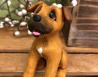 Custom Dog Ornament, Clay9 Mini, Custom Dog Sculpture, Dog Ornament, Dogs, Cake Topper, Akita, Clay Ornament, Custom Pet Sculpture