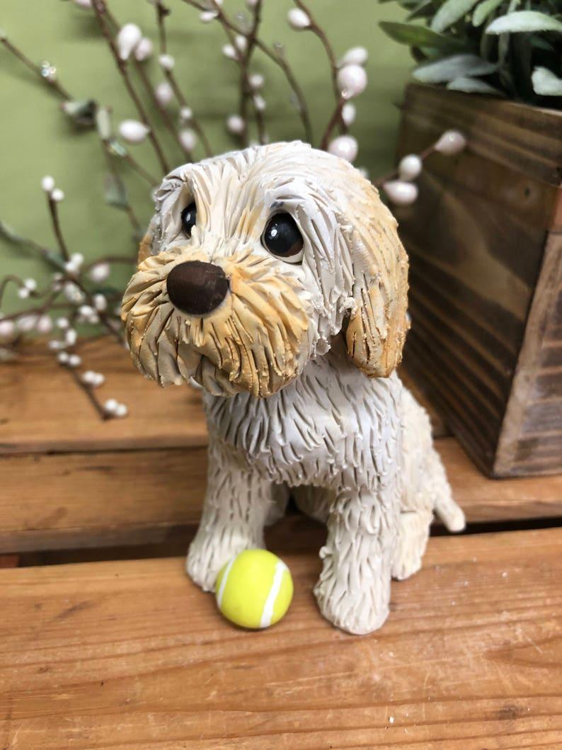Goldene Doodle Skulptur Hund Skulptur Goldenes Doodle Hund Etsy