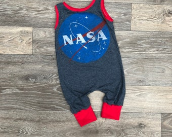 2d6081a766dbc Nasa tshirt romper- nasa dress - toddler tshirt romper- baby romper