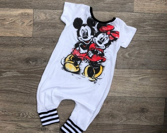 7906fc1124f Minnie Mouse mickey mouse tshirt dress Minnie Mouse tshirt romper- Disney  romper Minnie Mouse Romper Minnie Mouse Leotard
