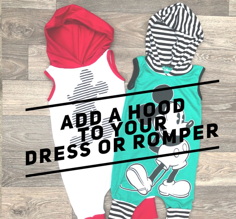 Add a hood to your dress or romper