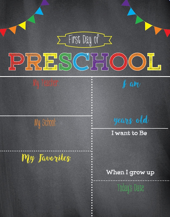 first day of school sign chalkboard school signfirst day of schoolprintable signblank template