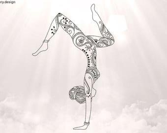 Yoga Asana Tattoo Etsy