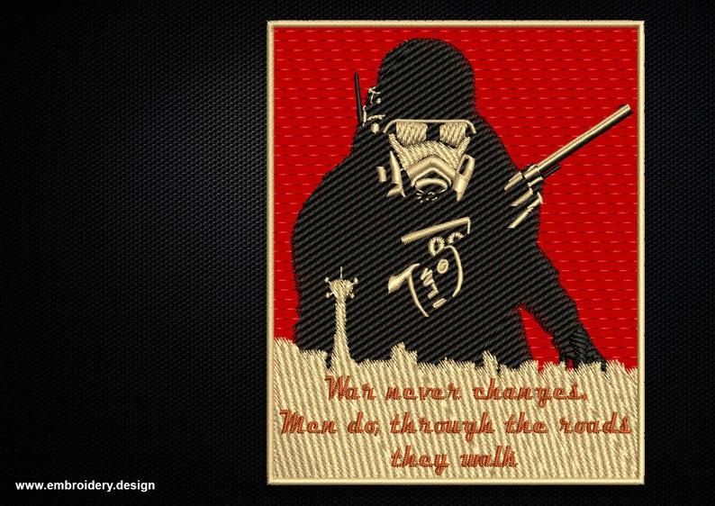 Fallout New California Republic Ranger embroidery design - downloadable - 3  sizes
