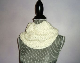 Snood round neck scarf tube ultra alpaca wool soft and light