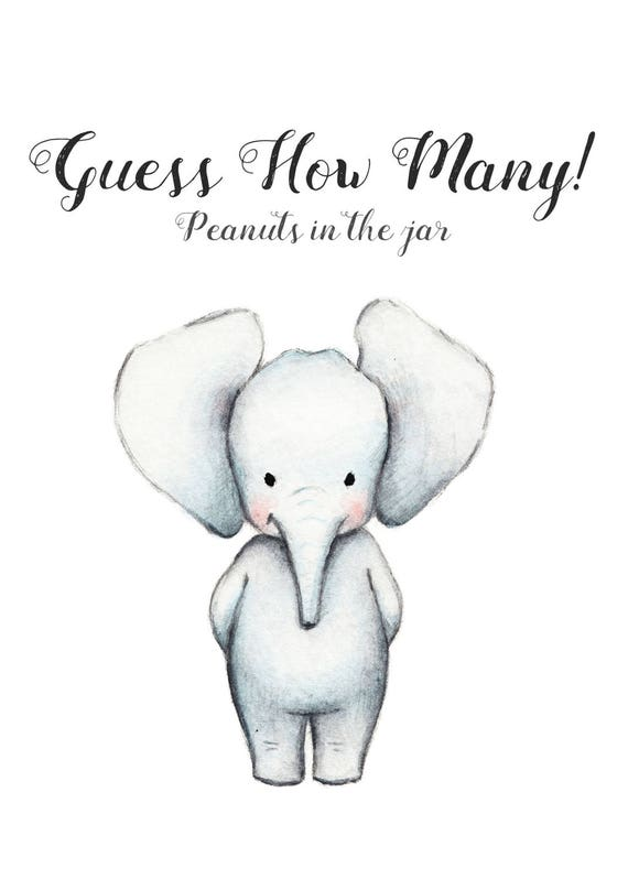 Baby Shower Elephant Theme Baby Shower Decorations Boy Baby Etsy