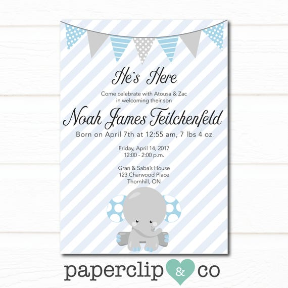 Baby arrival invitation new baby invitation meet and greet etsy image 0 m4hsunfo