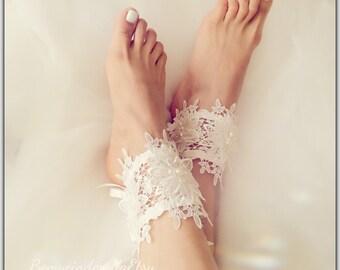 765357fed86a0 bridal lace anklets bridal lace barefoot sandal