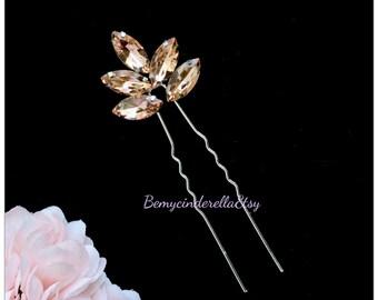 Hair Pins Bridal Hair Pins, Wedding Hair Pins, rhinestone Hair Pins, Bridal Hair Piece, Wedding Hair Piece, Pearl flower Hair Piece