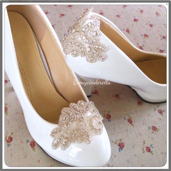 b6515a01c5 Silver Rhinestone Bridal shoes clips rhinestone wedding shoes | Etsy