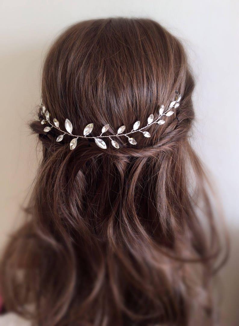 bridal hair accessory, Hair Vine Bridal Hair Piece crystal hair vine Wedding Hair Vine Wedding Hair Piece Bridal Hair Vine