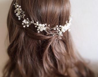 Bridal hair wreath, Bridal Hair Vine, Wedding Hair Vine,  Bridal Hair Piece, Wedding Hair wreath, crystal hair vine, bridal hair accessory,