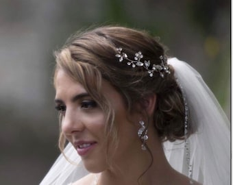 Hair Vine, Bridal Hair Vine, Wedding Hair Vine,  Bridal Hair Piece, Wedding Hair Piece, crystal hair vine, bridal hair accessory,