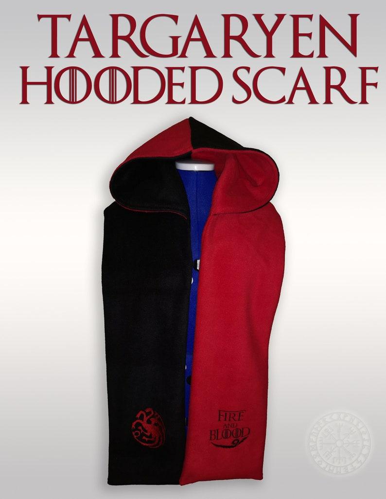 Targaryen Fleece Hooded Scarf image 0