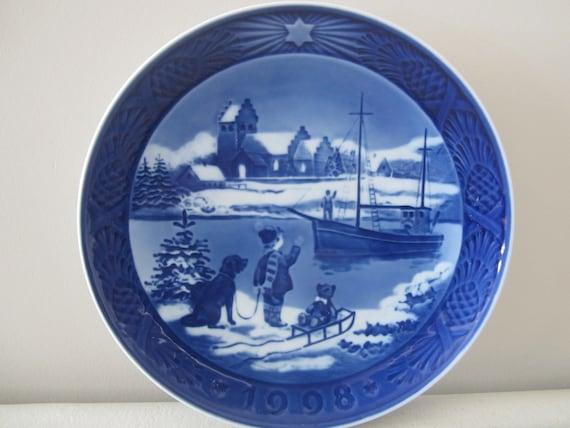 Royal Copenhagen Christmas Plates.Royal Copenhagen Christmas Plate 1998 Welcome Home