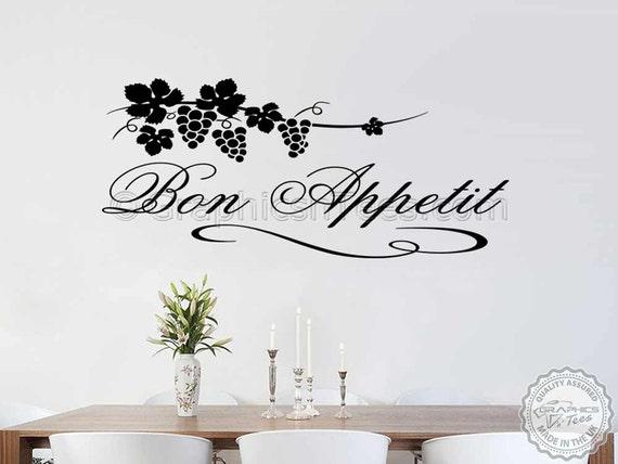 Guten Appetit Küche Wandtattoo Aufkleber Zitat, Küche Esszimmer Hause  Wandtattoo mit Grapevine