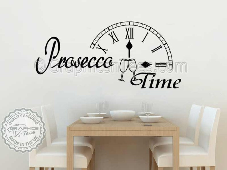 Prosecco Zeit Spaß humorvolle Küche Esszimmer Wandtattoo Zitat   Etsy