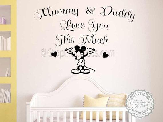 Kinderzimmer Wand Zitat, Mickey Mouse Wandtattoo, junge Mädchen  Schlafzimmer Wand Aufkleber