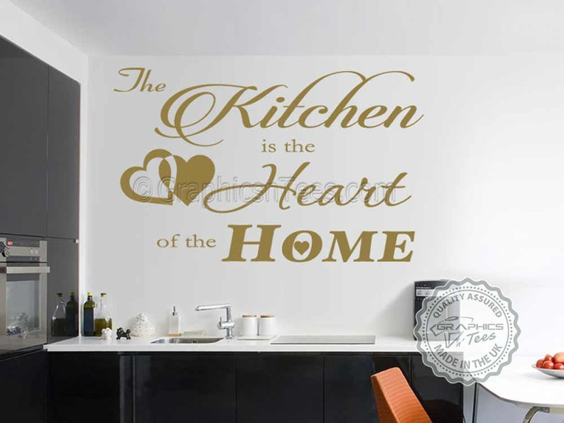 Kitchen Is The Heart Of The Home Kitchen Wall Sticker Quote Family Wall Decor Decal Wall Sticker