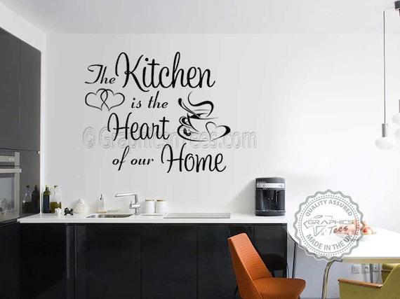 Cuisine murale Sticker citation, cuisine est coeur de notre maison ...