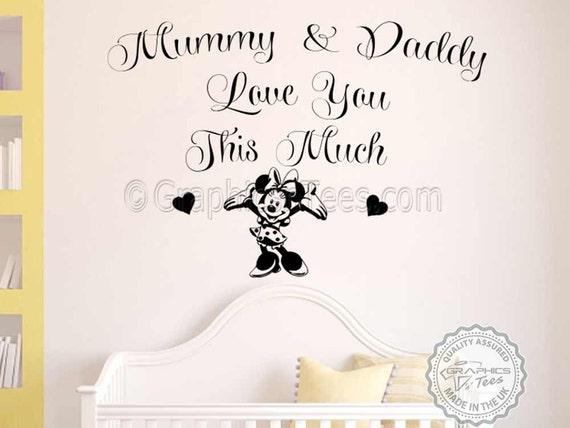 Kinderzimmer Wandtattoo, Minnie Mouse, Baby Mädchen Schlafzimmer Wand Zitat