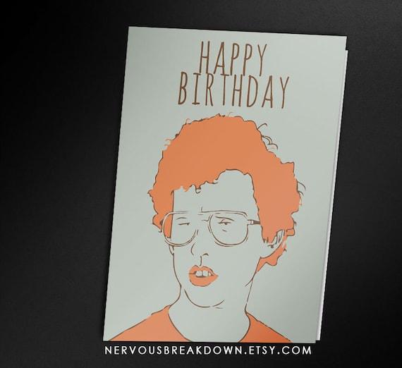 Napoleon Dynamite Birthday Card Printable Card Etsy