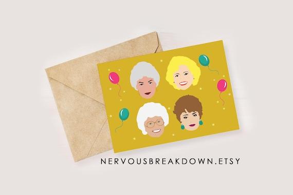 Golden Girls Birthday Card Etsy