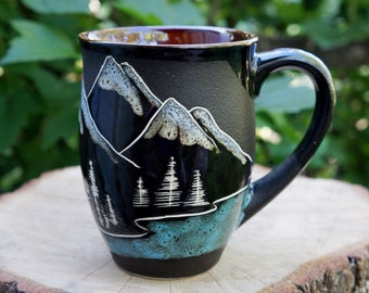 Gift for husband mug Mountain mug Adventure awaits Inspirational mug Father mug ceramic gifts for him Graduation gift for son Brother gift