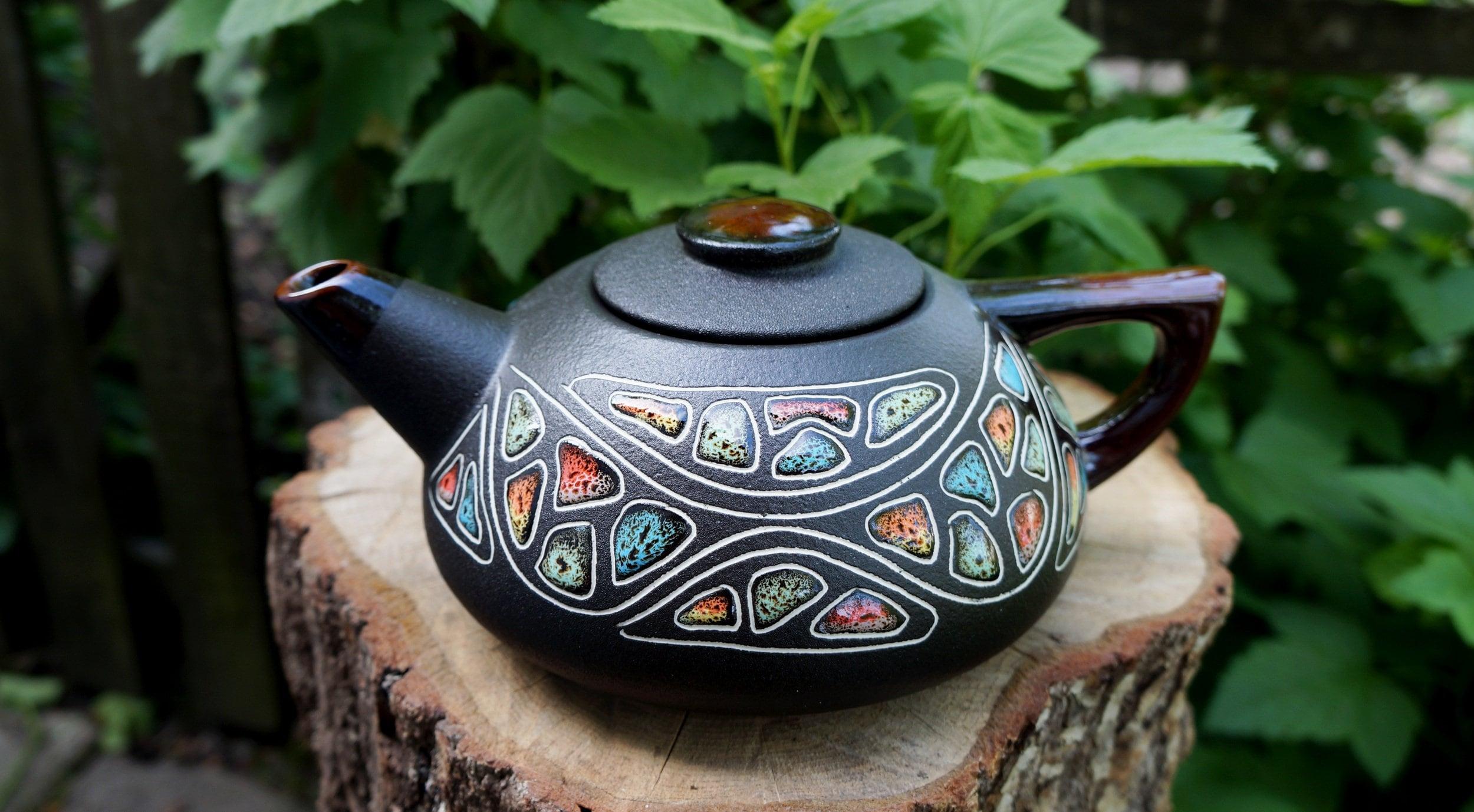 Braut-Geschenk-Ideen Keramik Steine Teekanne Tee Kanne Hand