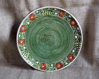 Handmade ceramic dinner plate set Pottery plates Ceramic dish set Rustic plates 2 piece place setting Stoneware serving plate Christmas gift