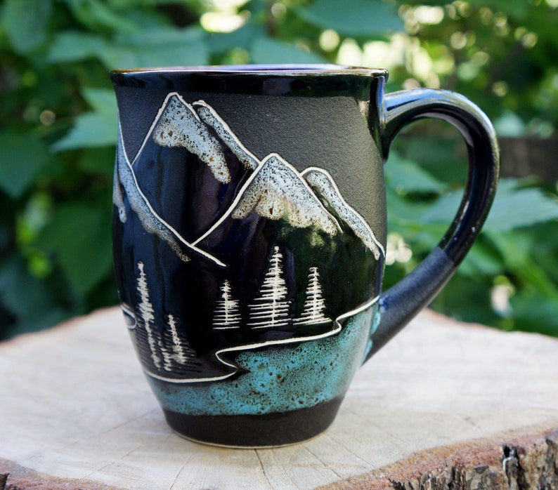 Long Distance Ceramic Mug Mountain Adventure Await