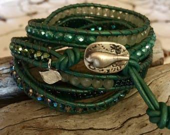 Sea-foam Green Wrap Bracelet