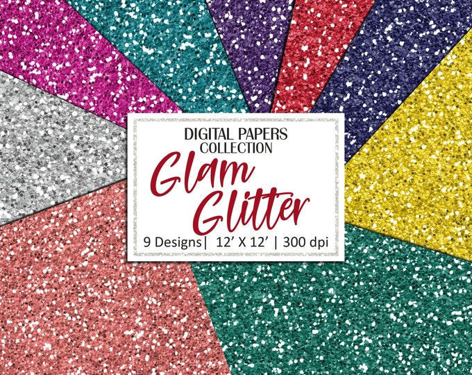 40% OFF SALE Glitter Digital Paper Texture Glitter Background Commercial Use - DP780