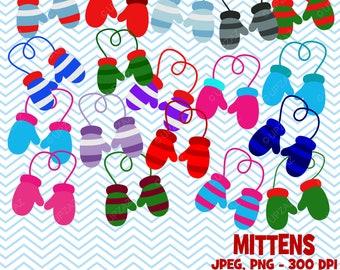Winter Gloves Clipart, Mittens Clipart - UZ845
